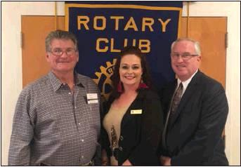 New Directions Program Director Kerrie Mathews Visits With Walters Rotary Club