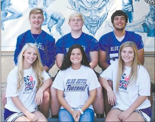 WHS Football Homecoming Candidates: Captians (L-R): Seth Eidson, Harrison Kirkpatrick, Therrel Penn Queens (L-R): Jenna Johnson, Lily Brox, Jayla Davis The homecoming ceremony is Friday, Oct. 11 at 6:45 before the WHS vs. Healdton kickoff.